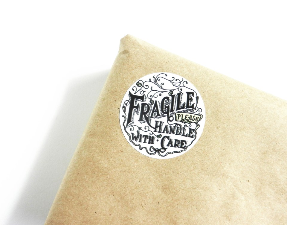 Fragile Handle with Care Sticker | The Postman's Knock
