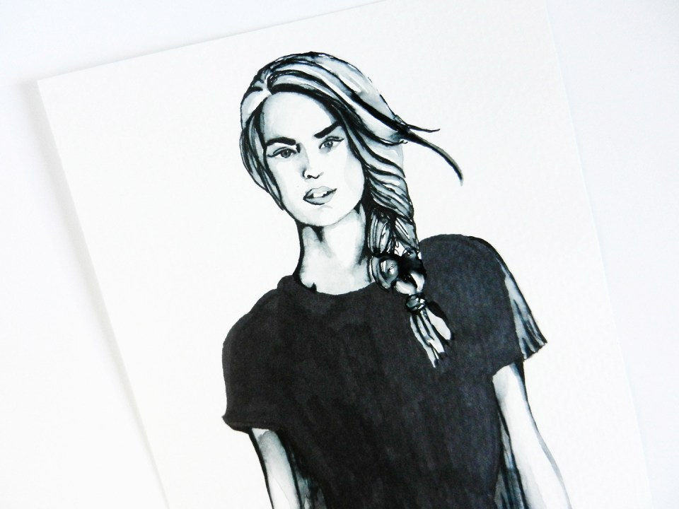 Contemporary Fashion Drawing Tutorial | The Postman's Knock
