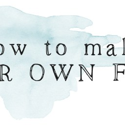 How to Make Your Own Font | The Postman's Knock