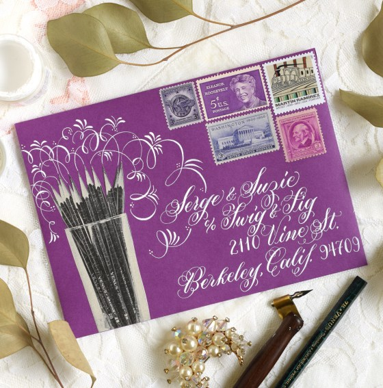 This Janet Style envelope benefits from a lot of flourishes!