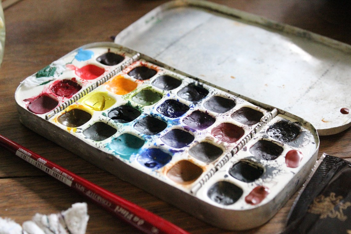 All About Watercolors | Greenleaf and Blueberry via The Postman's Knock