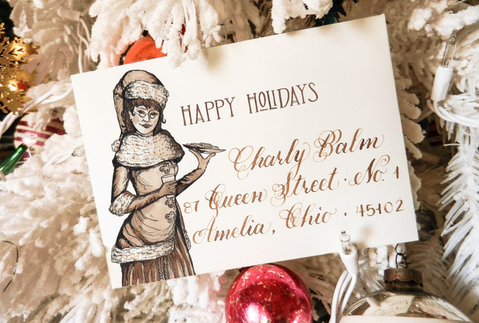 Printable Holiday Envelopes   The Postman's Knock