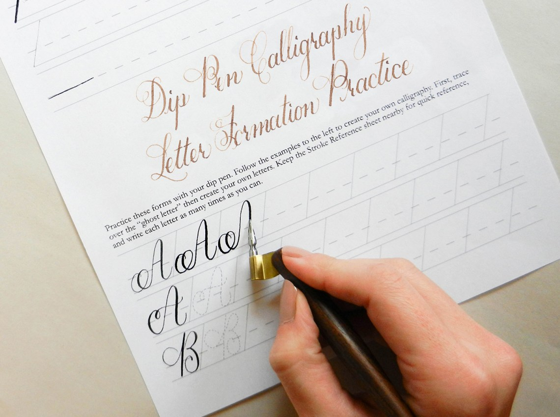 Learn calligraphy for a latt the janet style worksheet Where to learn calligraphy