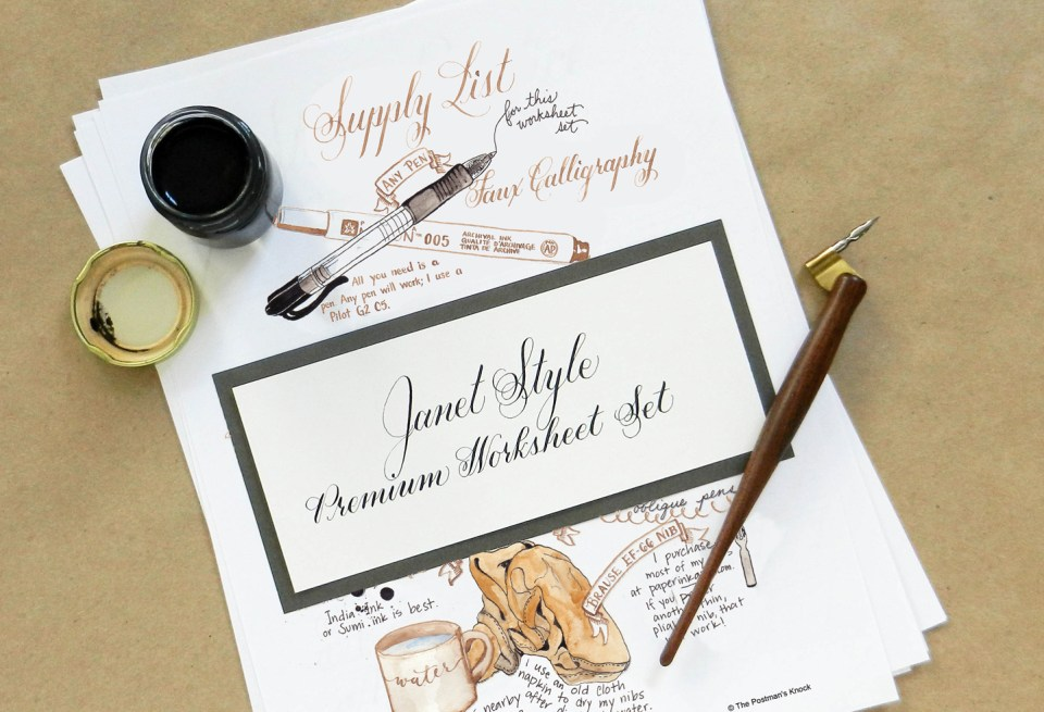 Learn Calligraphy in the Janet Style   The Postman's Knock