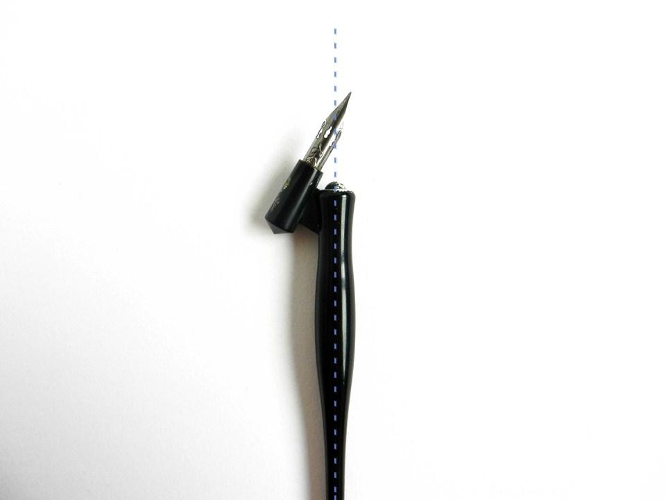 About oblique pen holders the postman s knock