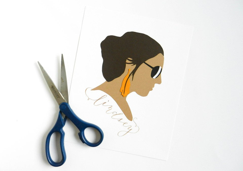 Paper Profile Silhouette Tutorial | The Postman's Knock