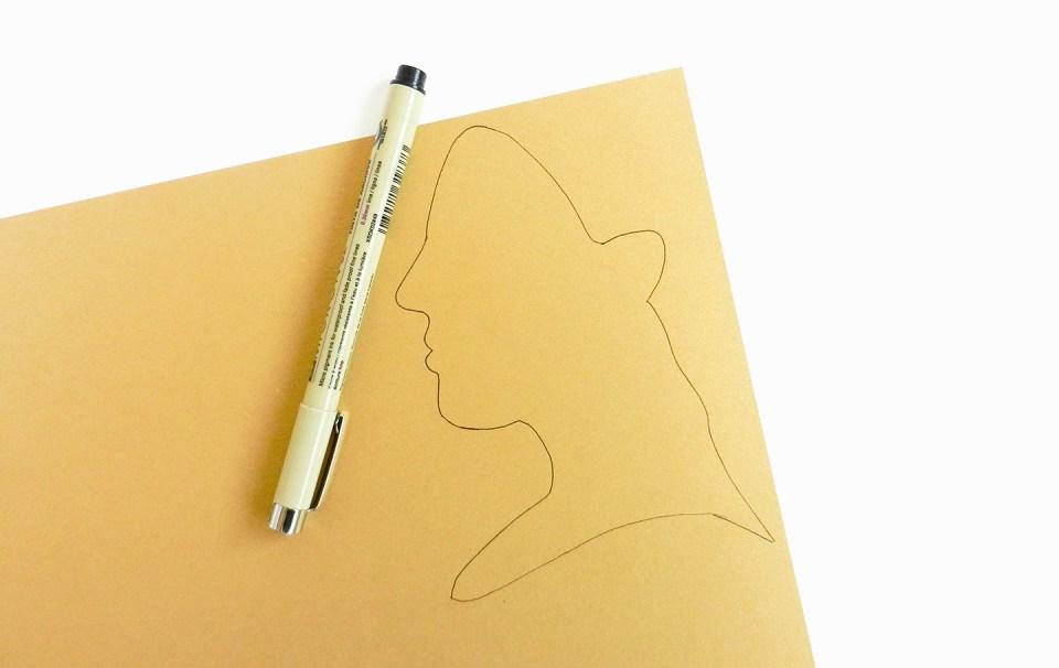 Paper Profile Silhouette Tutorial   The Postman's Knock