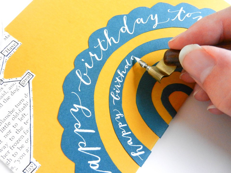 Personalized Birthday Card Tutorial | The Postman's Knock