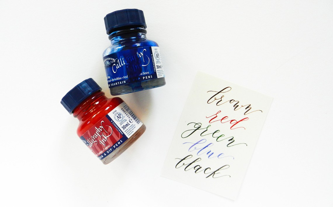 A Guide to Calligraphy Inks | The Postman's Knock