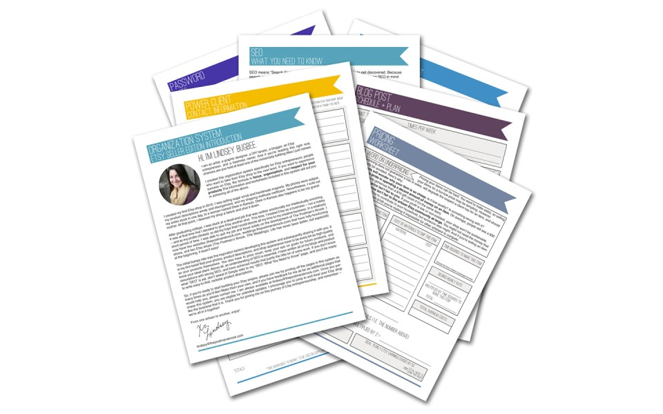 Etsy Seller Organization System + Planner | The Postman's Knock