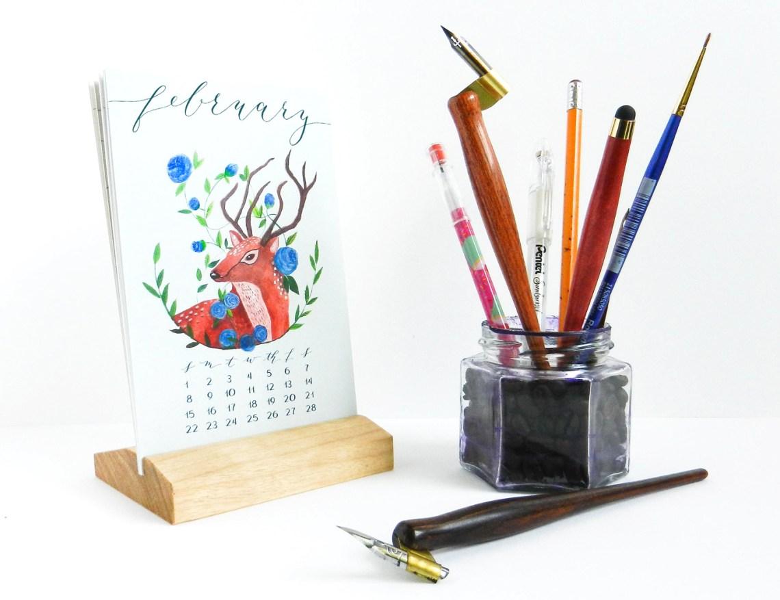 "4""x6"" Stand Calendar | The Postman's Knock"