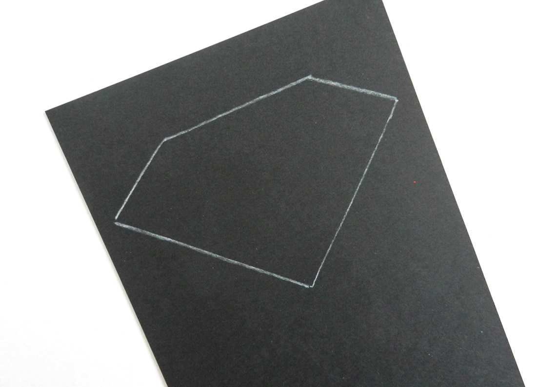 Drawing on Black Paper   The Postman's Knock