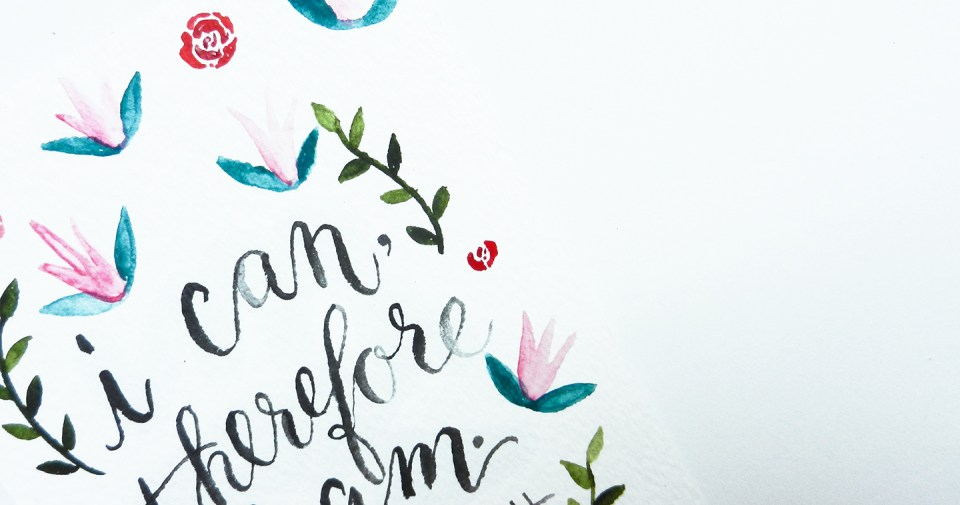 Watercolor Lettering + Free eWallpaper | The Postman's Knock