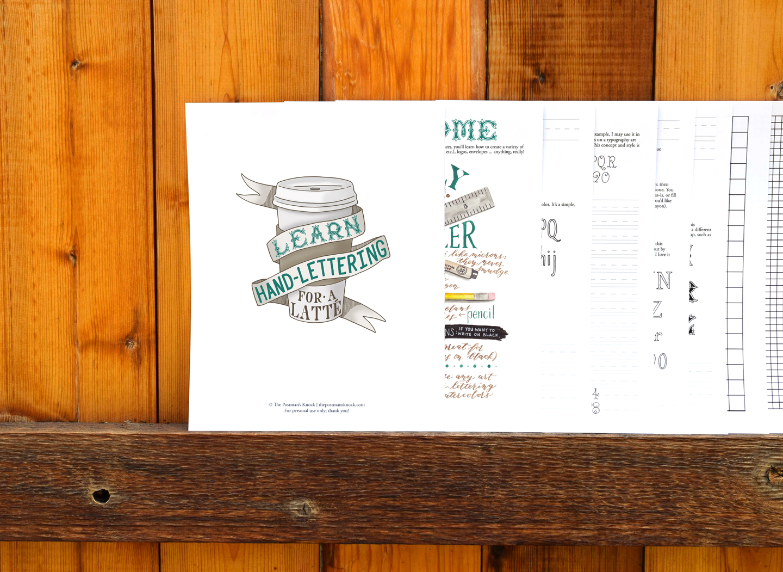 TPK's Learn Hand-Lettering for a Latte Worksheet   The Postman's Knock
