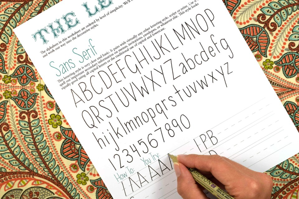 Practicing Sans Serif Hand Lettering | The Postman's Knock