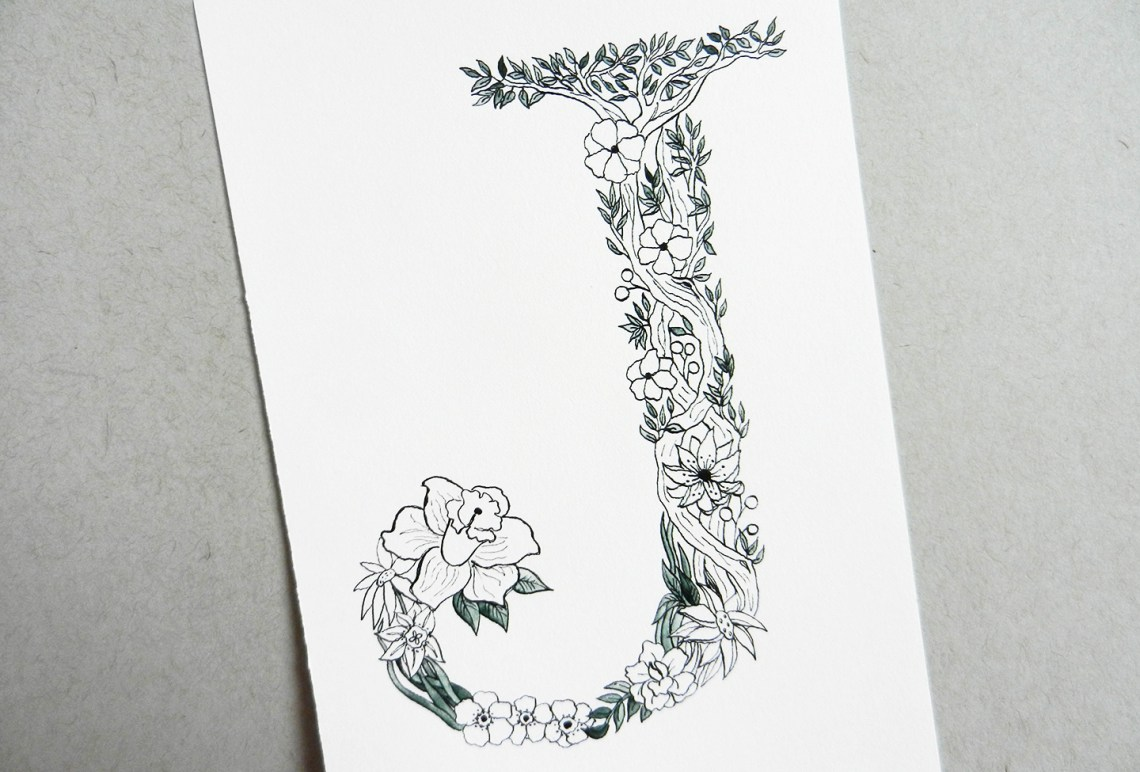 Botanical Letter Tutorial | The Postman's Knock