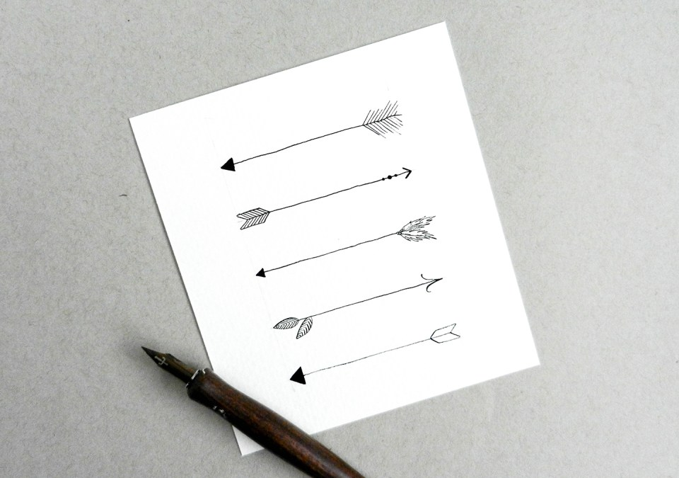 Hand-Drawn Arrows Tutorial | The Postman's Knock