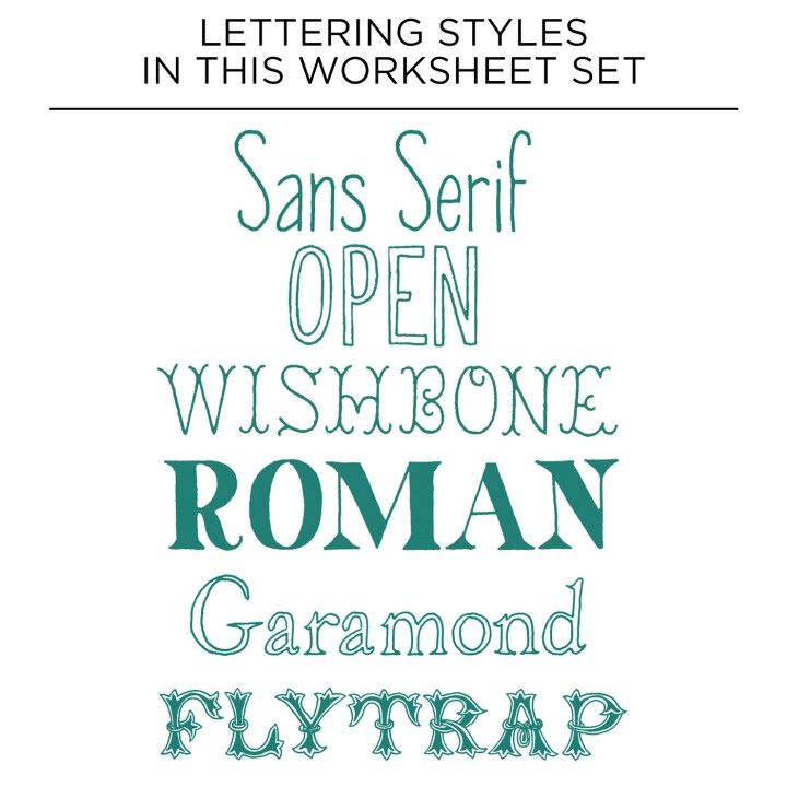 Premium Hand-Lettering Worksheet Set :: Learn Hand-Lettering for a Latté! | The Postman's Knock