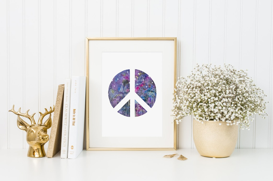 Galaxy Effect Watercolor Art Tutorial {Guest Post by Gaby Friedman} | The Postman's Knock