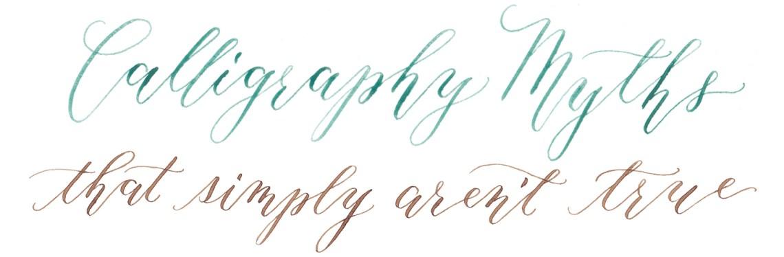 Eight Modern Calligraphy Myths   The Postman's Knock