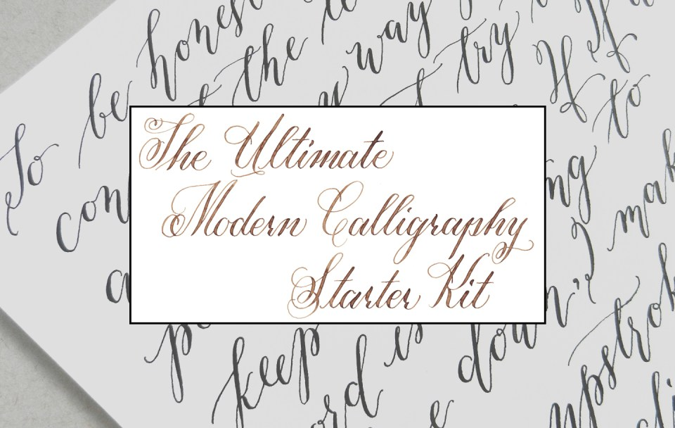 The Ultimate Modern Calligraphy Starter Kit | The Postman's Knock