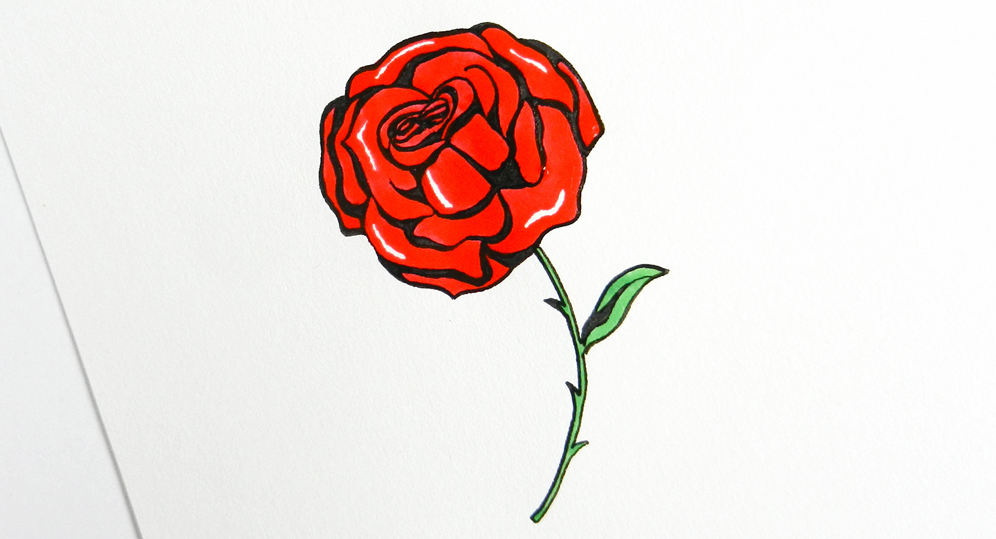 Contour Line Drawing Rose : How to draw roses the postman s knock