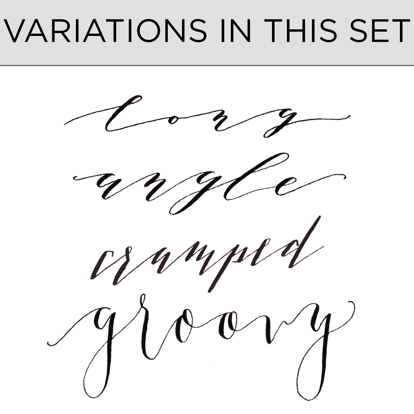 Premium Calligraphy Worksheet Add On Kaitlin Style Variations