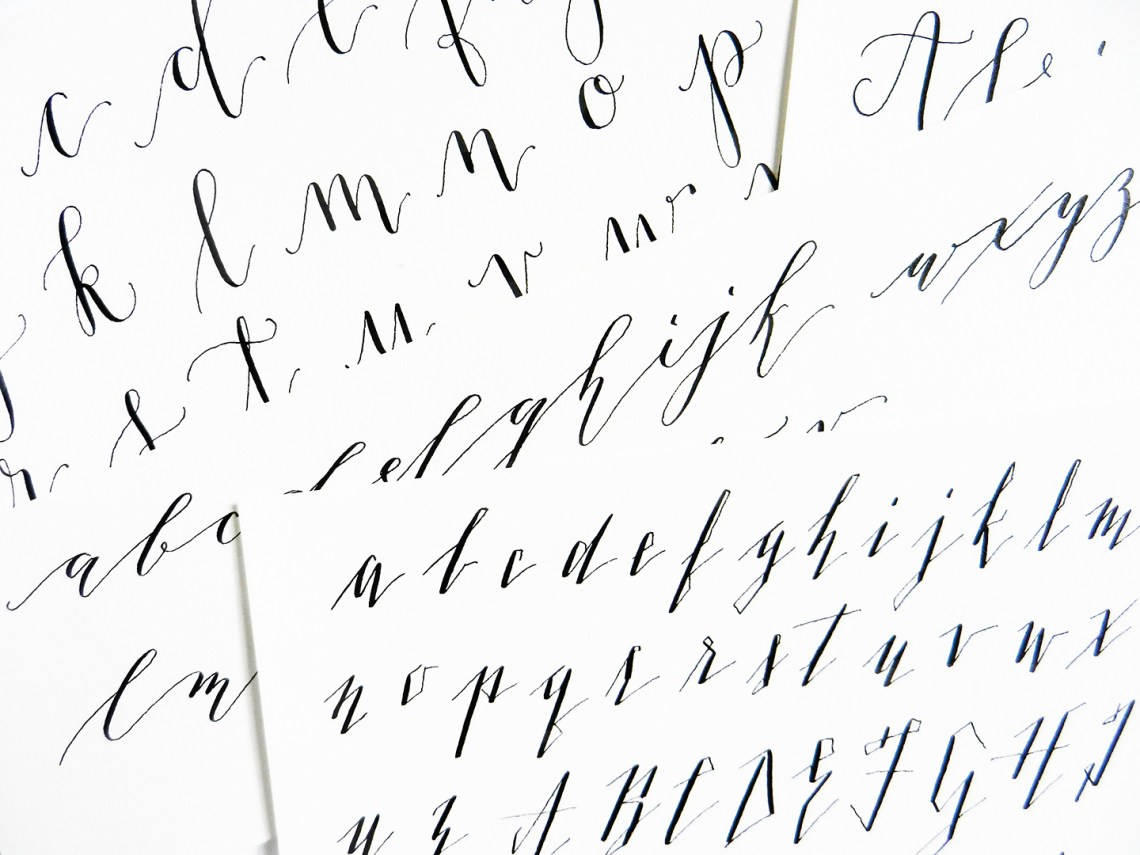 Calligraphy variation techniques a surprise worksheet