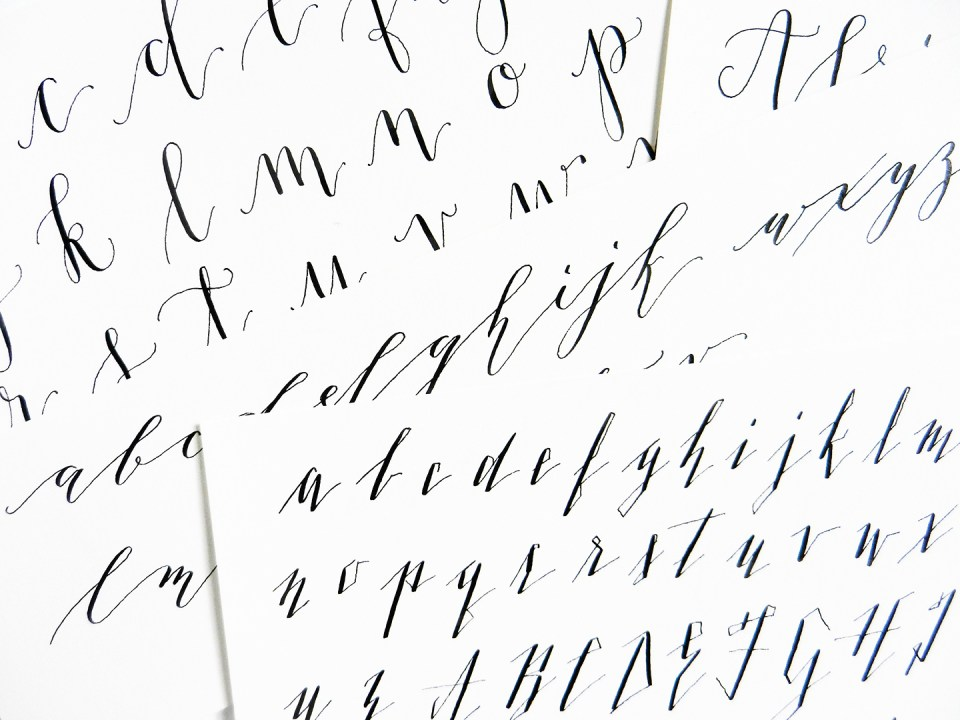 5 Calligraphy Variation Techniques A Surprise Worksheet The