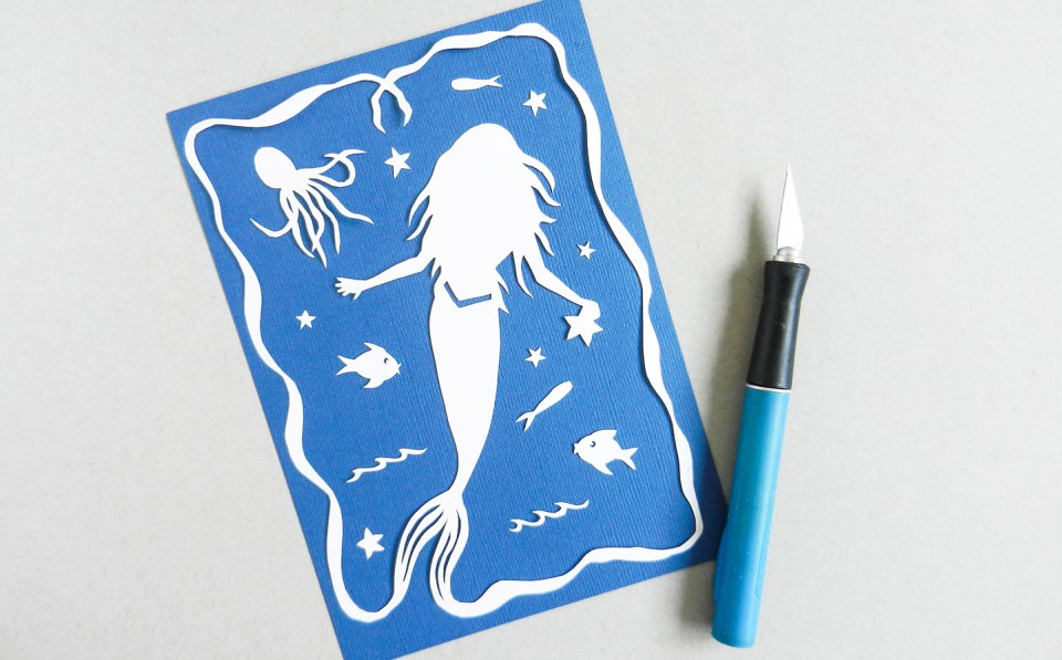 Papercut Art Tutorial {with Printable Template} | The Postman's Knock