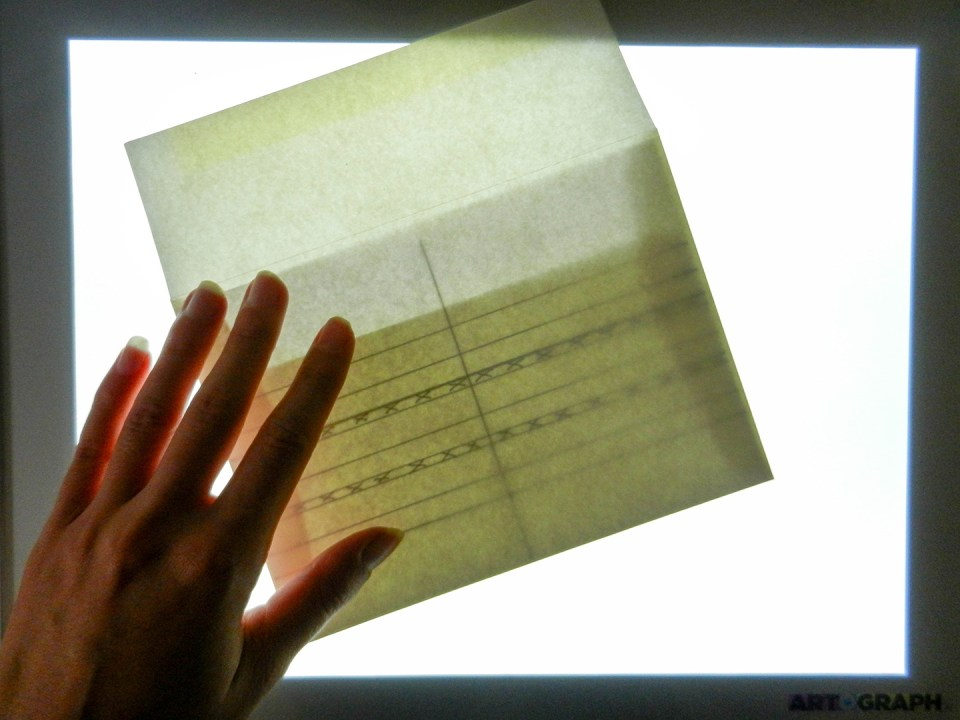 Using a Lightbox for Envelope Calligraphy | The Postman's Knock