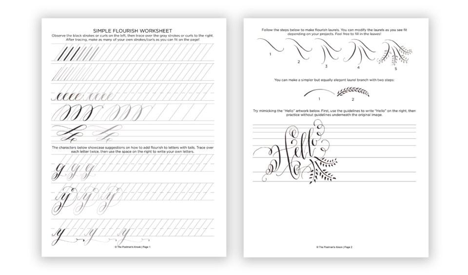 make a handwriting worksheet