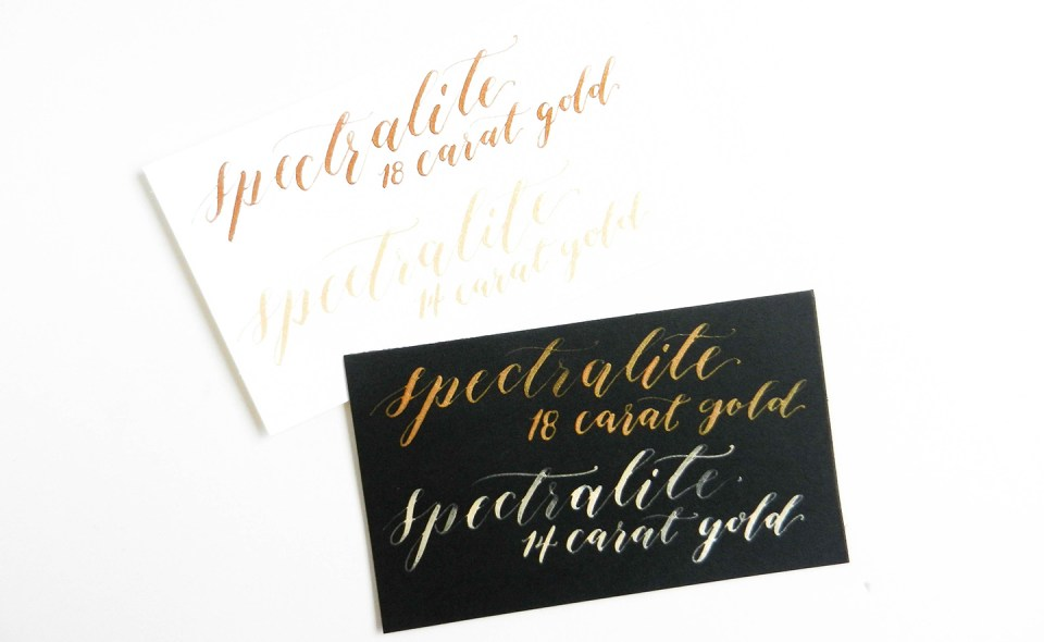 A Guide to Using Metallic and Gold Calligraphy Inks   The Postman's Knock