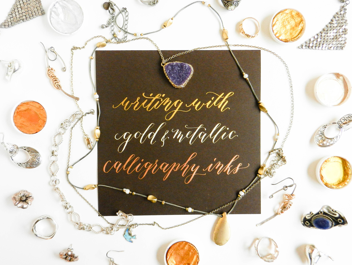 Guide to using metallic and gold calligraphy inks the postman s