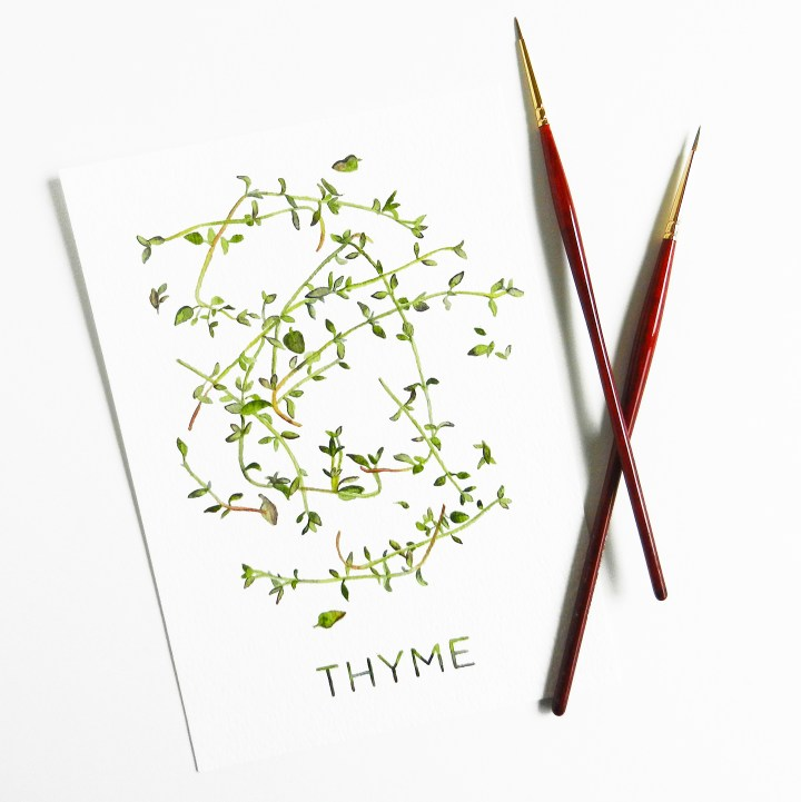 Printable Artwork: Thyme {Watercolor} | The Postman's Knock