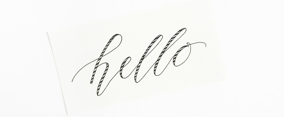 Ideas for Unique Modern Calligraphy | The Postman's Knock