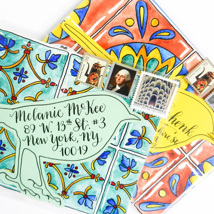 Amy Style Calligraphy Mail Art   The Postman's Knock