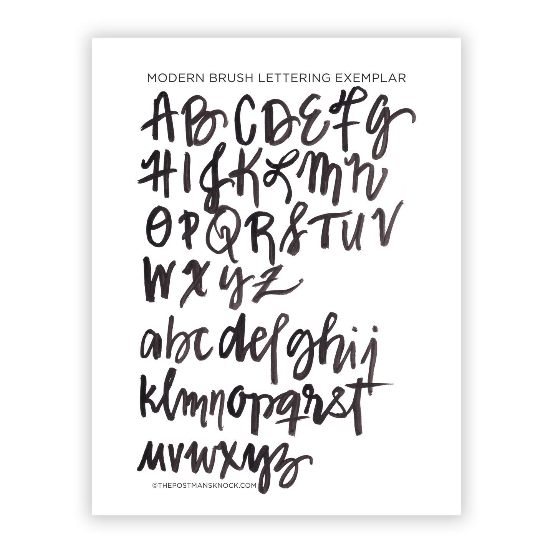 Modern Brush Lettering Exemplar
