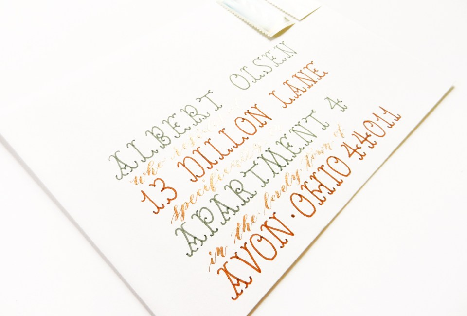 Envelope Stencil for Perfect Spacing – Calligraphy Stencils for Wedding Invitations