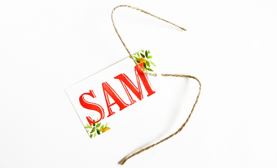 Five Fresh Gift Tag Ideas   The Postman's Knock