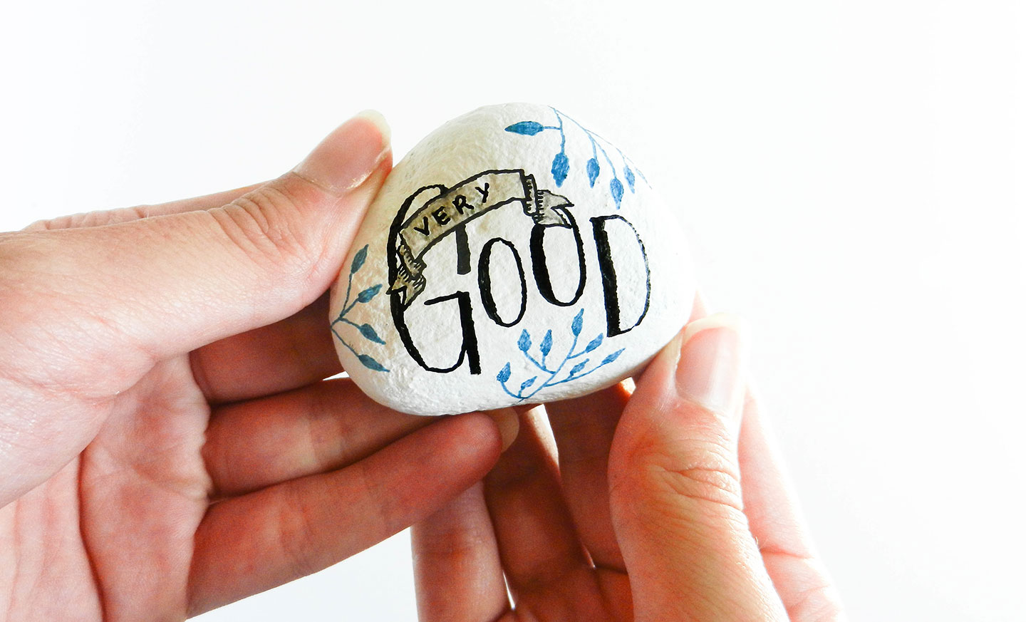 Day-Brightening Painted Stones Tutorial   The Postman's Knock