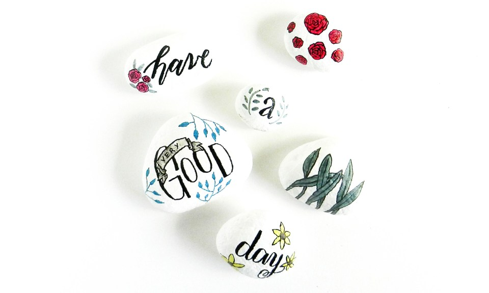 Day-Brightening Painted Stones Tutorial | The Postman's Knock