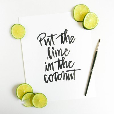 Simple Modern Brush Lettering Tutorial