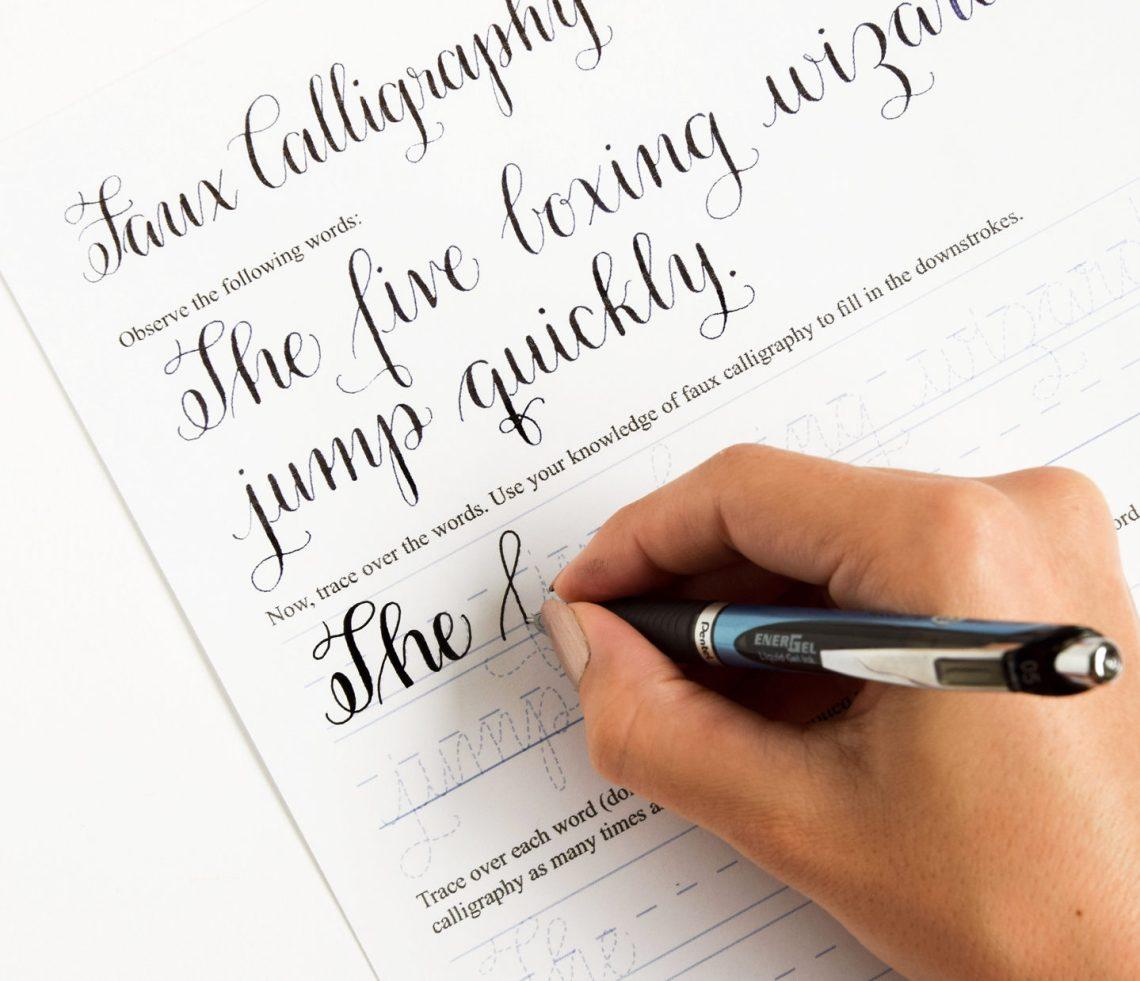 Premium Calligraphy Worksheet Set {Amy Style} | The Postman's Knock