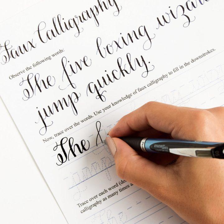 Premium Calligraphy Worksheet Set {Amy Style}   The Postman's Knock