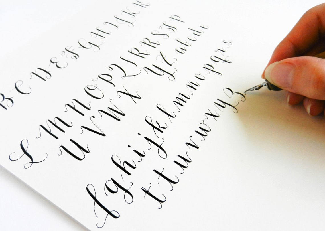 Introducing the amy style learn calligraphy for a latt Learn calligraphy letters