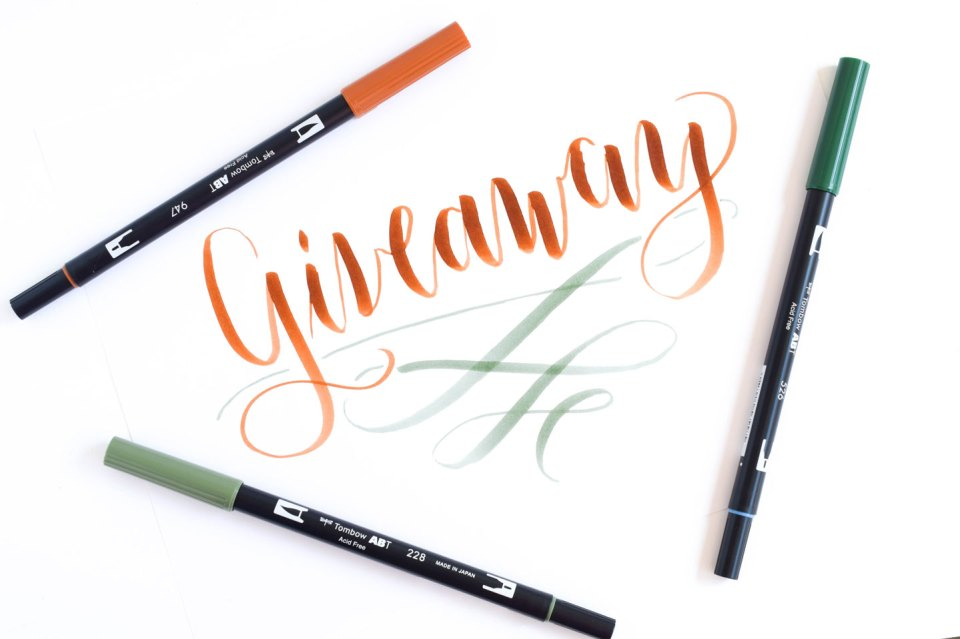 Using brush pens for calligraphy a tombow giveaway the postmans