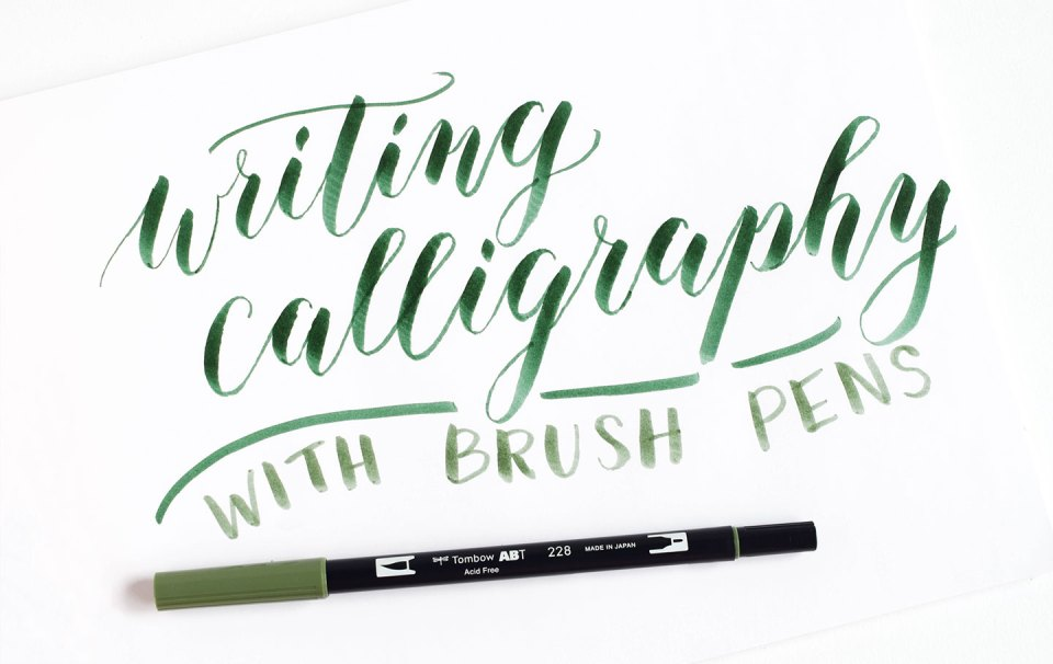 Writing Calligraphy with Brush Pens   The Postman's Knock