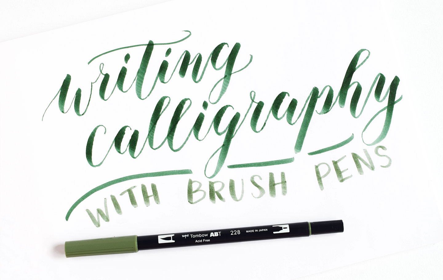 Using Brush Pens For Calligraphy A Tombow Giveaway