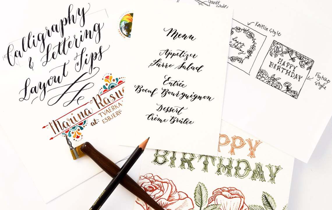 Calligraphy and Lettering Layout Tips | The Postman's Knock